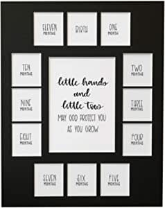 All Things For Mom First Year Photo Picture Mat with You are Loved Little One No Frame Birth Through 1 Year 11x14 Mat 13 Openings Black