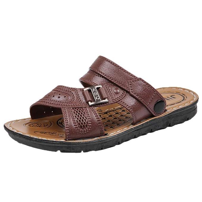 Sandalias con Hebilla Unisex,YiYLunneo Zapatos De Verano De Los Hombres Sandalias De Colores Mezclados Zapatilla Chanclas Interiores Moda Flip-Flops: ...