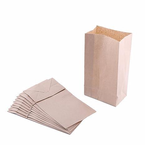 Small Paper Snack Bags, Durable Kraft Paper Bags, Pack Of 500 Bags (2lb, Brown)
