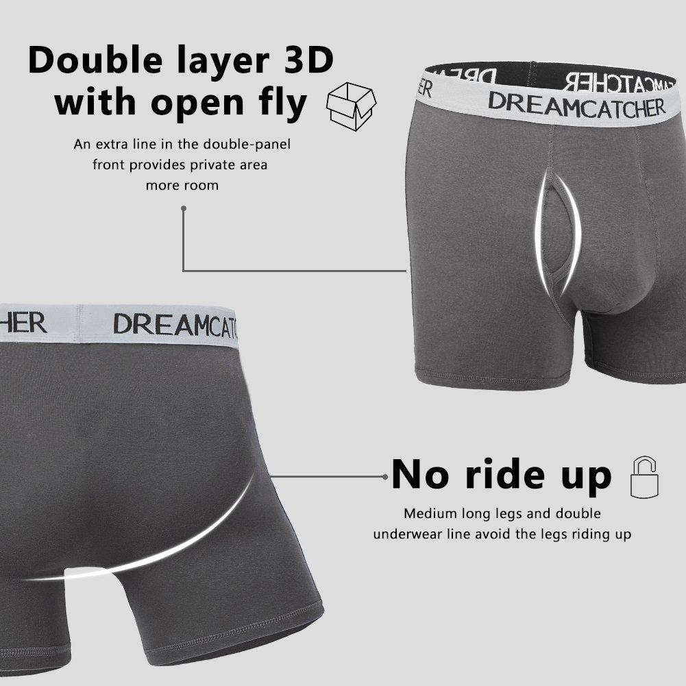 ILUVIT Mens Underwear Athletic Boxer Briefs Sport Performance Boxer Briefs Cool Dry Underwear Men Pack
