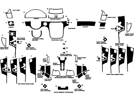 Rdash Dash Kit Decal Trim for Mercedes-Benz SLK-Class 1998-2004 Black Carbon Fiber 4D