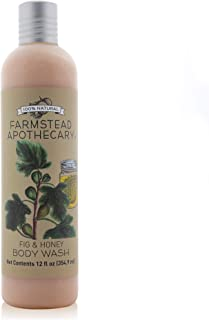product image for Farmstead Apothecary 100% Natural Body Wash with Organic Coconut Oil, Organic Sunflower Oil & Organic Vitamin E Oil, Fig & Honey 12 oz