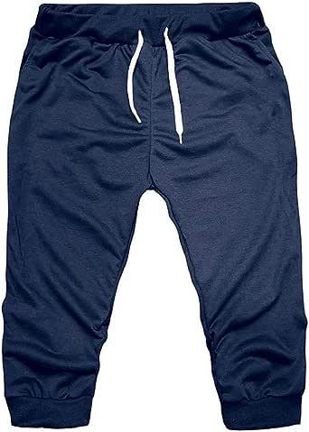 Pantalones 3/4 Hombre Verano 2019 Nuevo SHOBDW Tallas Grandes Pack Pantalones Cortos Hombre Cordón Elástico Cómodo Suelto Bolsillos Casual Pantalones Hombre Deporte: Amazon.es: Ropa y accesorios