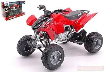 New Ray Model Compatible con ATV-Quad Honda TRX450R Red 1:12 ...