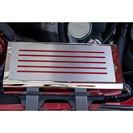 amazon com fuse box cover w blue carbon fiber inlay&brushed top 2006 mustang interior fuse box fuse box cover w blue carbon fiber inlay&brushed top plate for 15 16 mustang