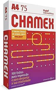 Papel Sulfite A4 Chamex 75g 500 folhas