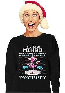 8fa665c8a FA La La Mingo Shirt Women Flamingo Funny Christmas Tee Long Sleeve ...