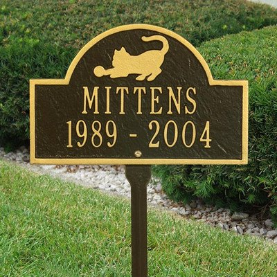3031 - Personalized Two Line Pet Cat Mini Arch Lawn Marker