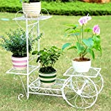 AIDELAI flower rack Pastoral Creative Metal Flower Racks Indoor And Outdoor Living Room Balcony Decoration 4 Layers Flower Racks Patio Garden Pergolas (Color : #3, Size : L)