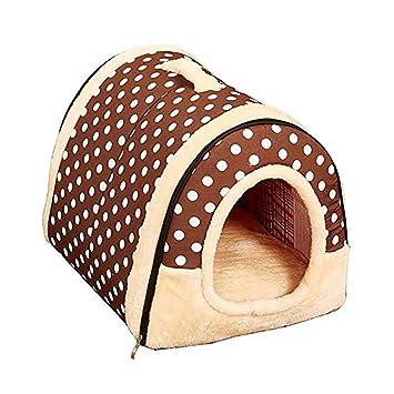 Queta Cama de casa para Perro, Plegable, Doble Uso, cálida caseta de Invierno