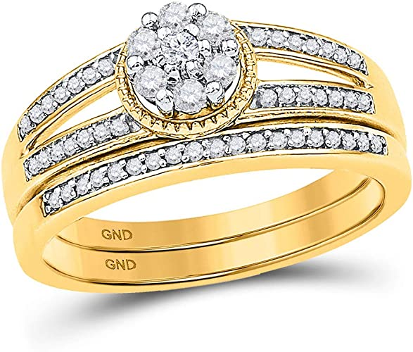 Size-8.25 Diamond Wedding Band in 10K Yellow Gold 1//8 cttw, G-H,I2-I3