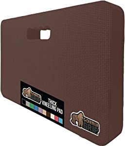 Gorilla Grip Original Premium Thick Kneeling Pad, Comfortable Foam Mat to Kneel On, Knee Pad Cushion for Gardening, Yard Work, Yoga, and Floor Kneeler for Baby Bath, 17.5 x 11 Inch x 1.5 Inch, Brown