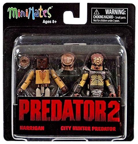 Predator 2 Minimates Series 1 Harrigan & City Hunter Predator 2