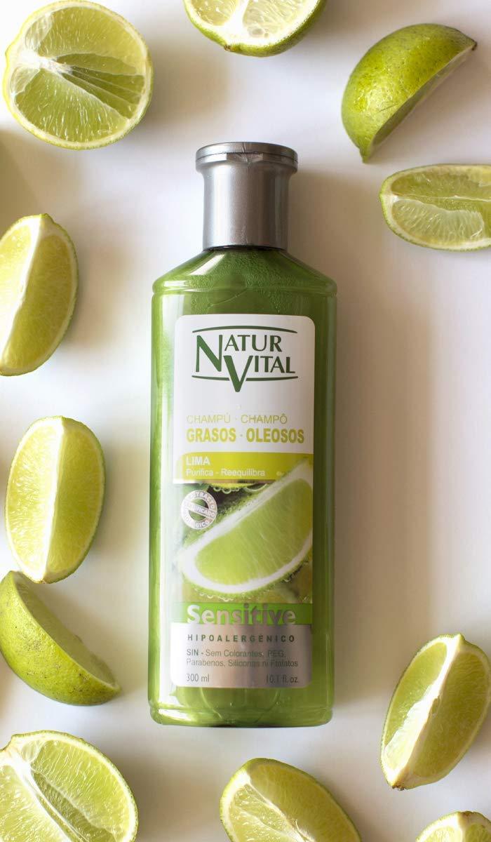 NaturVital Champú Sensitive Cabellos Grasos - 300 ml