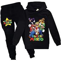 AMCYT Mario - Sudadera con capucha unisex para niña, 2 unidades