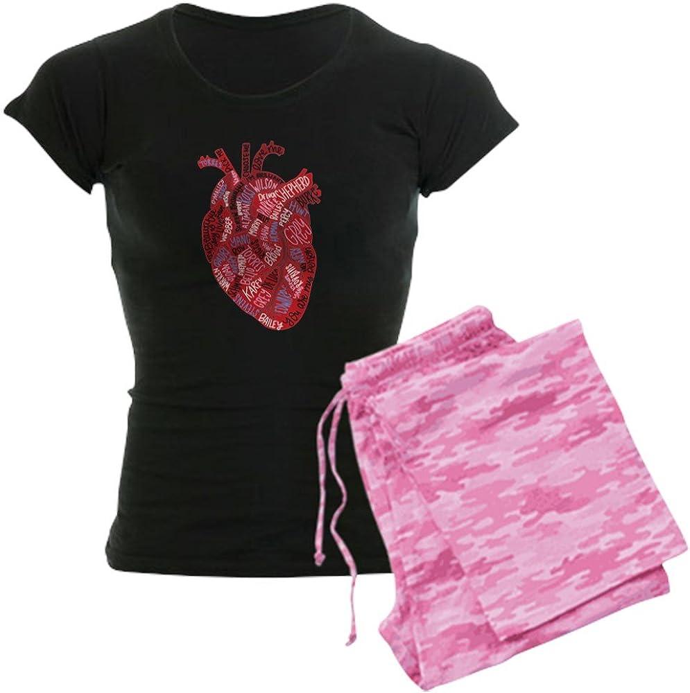 CafePress Greys Anatomy Heart Womens PJs