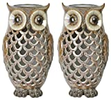 2-Pack – Moonrays 91581 Solar Powered Brown Owl with White LED Light Review