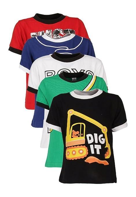 a26fa6526 Goodway Boys Pack of 5 Attitude Theme Printed T-shirts (JB5PCKATT-2_MultiColor)