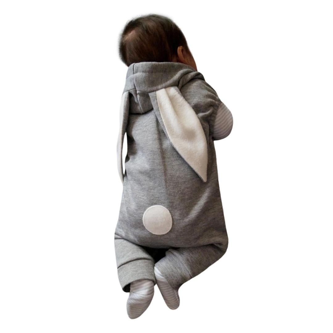 2a4255febe9a Amazon.com  SMTSMT Newborn Infant Kids Romper Baby Boy Girl Outfit Rabbit  Hooded Jumpsuit Clothes  Clothing