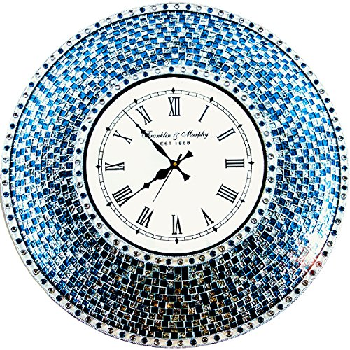Blue Mosaic Clock - DecorShore 22.5