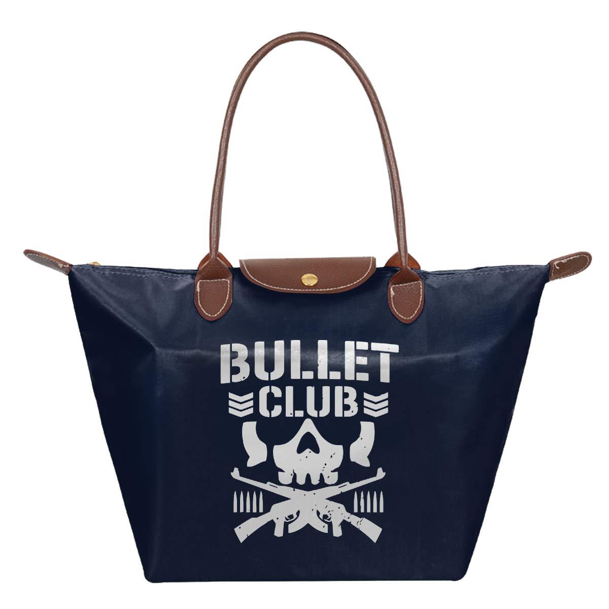 New Bullet Club UFC Fight Japan Wrestling Waterproof Leather Folded Messenger Nylon Bag Travel Tote Hopping Folding School Handbags