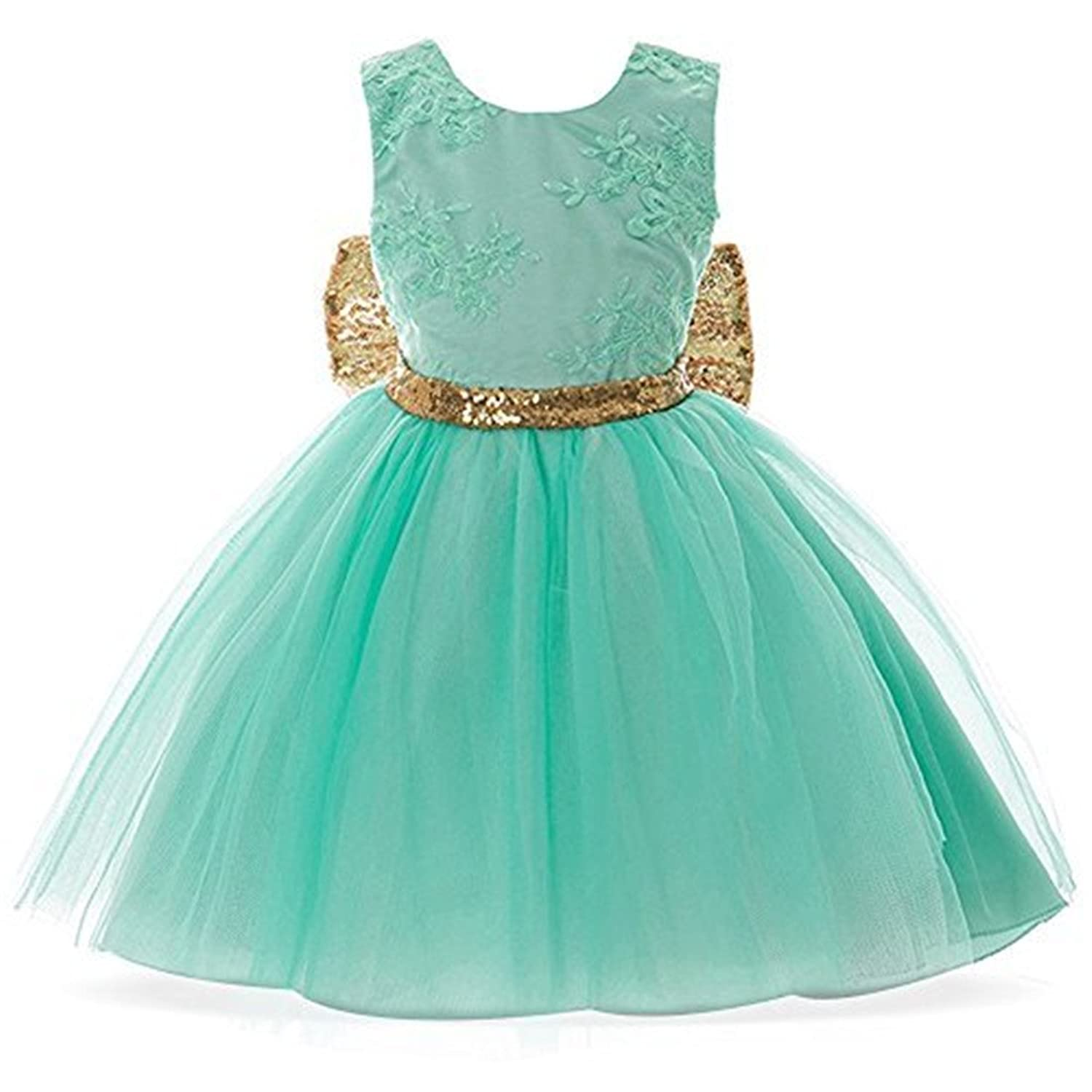 Amazon.com: FKKFYY 0-12 Years Baby Flower Girl Dress For Wedding ...
