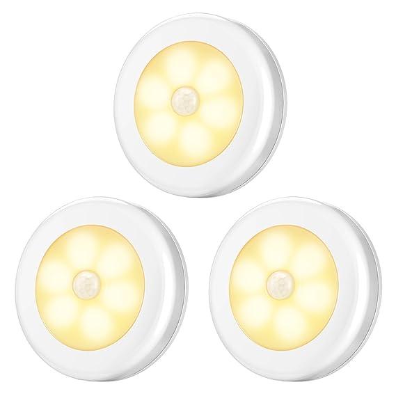 AMIR Nachtlicht mit Bewegungsmelder, LED Bewegungsmelder Licht, Auto ON/OFF Nachtlicht, Batterie-Powered Treppen Licht, Schra