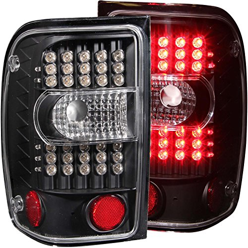 Anzo USA 311107 Ford Ranger Black G2 LED Tail Light Assembly - (Sold in Pairs)