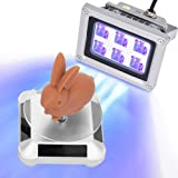 3D Printer UV Resin Curing Light with Solar Turntable 360°Rotating Stand for SLA DLP LCD 3D Printer Solidify Photosensitive R
