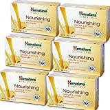 Himalaya Nourishing Cream & Honey Cleansing Bar (6 Pack), Body Soap for Soft and Smooth Skin, 4.41 oz, (125 g)