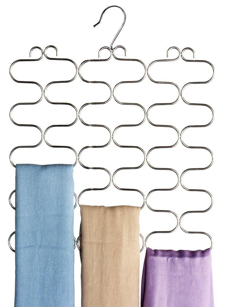 Deco Bros Supreme 23 Loop Scarf / Belt / Tie Organizer Hanger Holder, Chrome by Deco Brothers