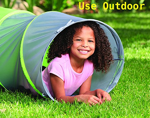 Adventure Play Tent with Tunnel and Bonus Flashlight by Toy Target | Tent for Kids with 6-foot Tunnel | Easy to Set Up, Lightweight, Compresses Flat for Easy Storage
