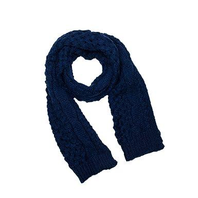 Nostalgique Classique Echarpe Cache Col Tricoté Chaud Epais Fille Pour  Saison Froide (Bleu Foncé)  Amazon.fr  Vêtements et accessoires 39994c5e644