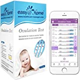 Easy@Home Ovulation Test Strips, 25 Pack Fertility Tests, Ovulation Predictor Kit, FSA Eligible, Powered by Premom…