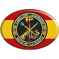 Artimagen Pegatina Oval España con Círculo Logo Legión