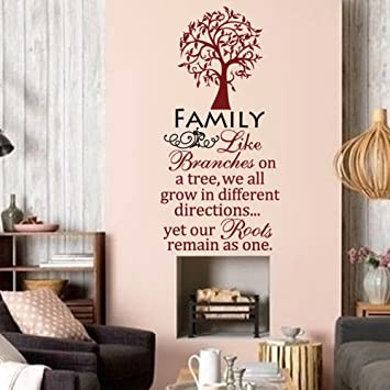 Amazon.com: Family - Like branches on a tree ...Vinyl Wall Quote ...