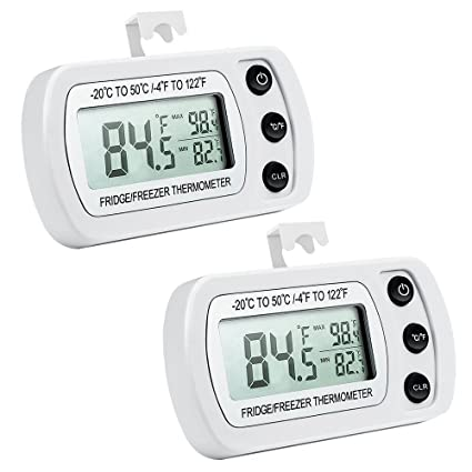 ORIA Digital Refrigerator Thermometer, Mini zer Thermometer ...
