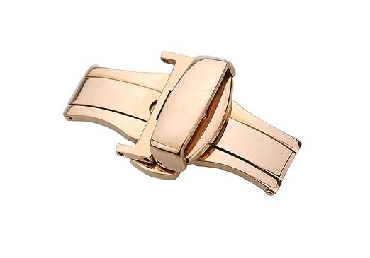 Sportuhr Damen Rosegold : 16mm high end roségold uhr gürtelschnalle ersatz edelstahl edelstahl