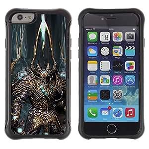 Suave TPU GEL Carcasa Funda Silicona Blando Estuche Caso de protección (para) Apple Iphone 6 PLUS 5.5 / CECELL Phone case / / Robot Alien Warrior Sword Art Armour Blue /