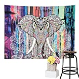 VARANO [SALE] Elephant Tapestry Mandala Tapestry Wall Hanging Bedspread Dorm Tapestry Decorative Wall Hanging - Picnic Beach Sheet Coverlet, 83''x58'' (01)