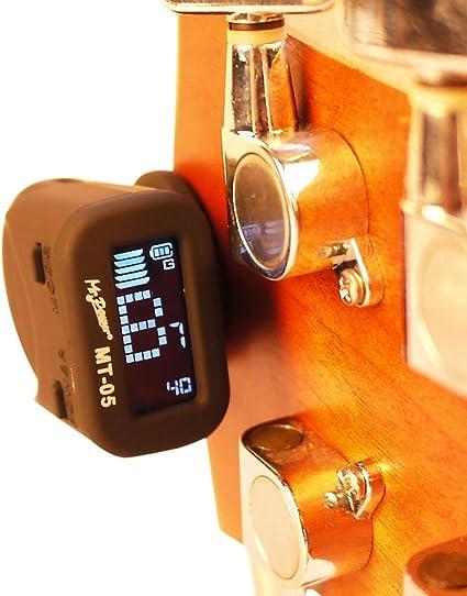 Mr.Power Micro afinador de cabezal para guitarra y bajo, batería ...