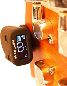 Mr.Power Micro Clip-On Headstock Tuner for Guitar Bass Ukulele, Built-in Rechargeable Lithium Battery
