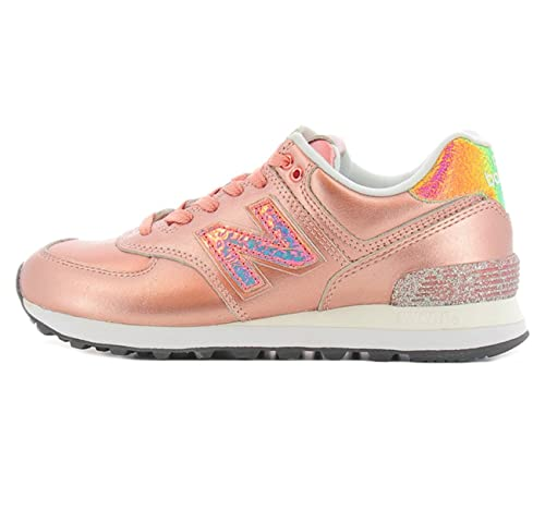 Scarpa 574 NRG New Balance colore rosa metallizzato per donna New Balance WL 574