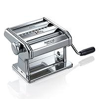 Marcato Ampia 150 Classic Máquina para Pasta Manual con Masa En Hoja, Fettuccine Y Tagliolini, Acero Cromado, Plata, 18.8 x 20 x 14 cm