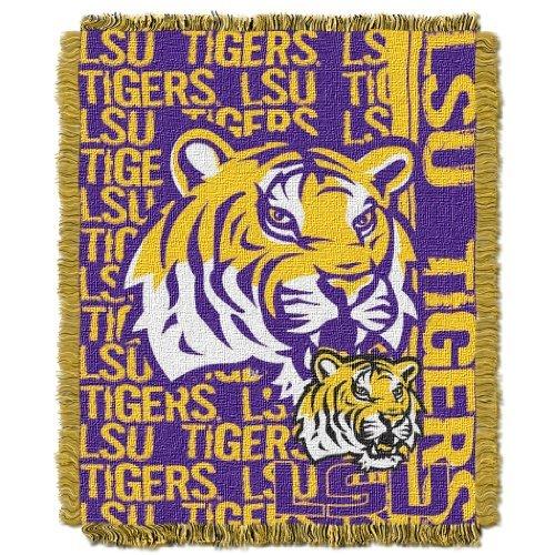 The Northwest Company NCAA LSU Tigers Double Play Jacquard Throw, 48