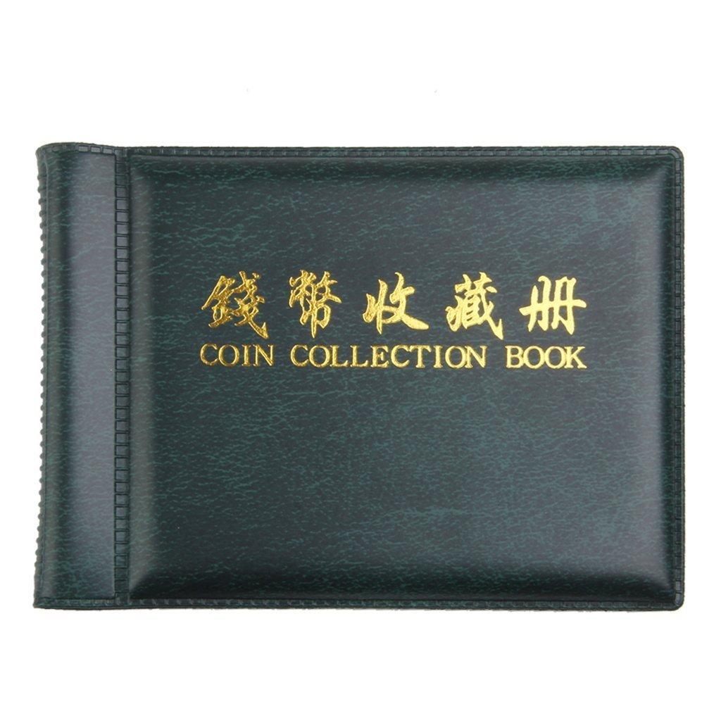 yeah67886Langlebig Medaille Sammler sammeln Album 60Münzenhüllen (grün)