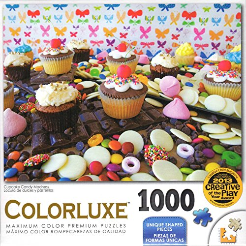Colorluxe 1000 Piece Puzzle - Cupcake Candy Madness