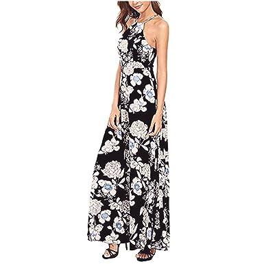 BBring Damen Kleider, Frauen Sommer Boho Lange Maxi Abend Party Kleid  Strand Kleider Sommerkleid  Amazon.de  Bekleidung d80219b879