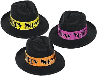Amazon.com: Beistle New Years Eve Swingin' Fedora Party ...
