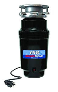 Waste Maid 158 Standard Food Waste Disposer, Garbage Disposal, Attached Power Cord, 1/2 HP, 2600 RPM